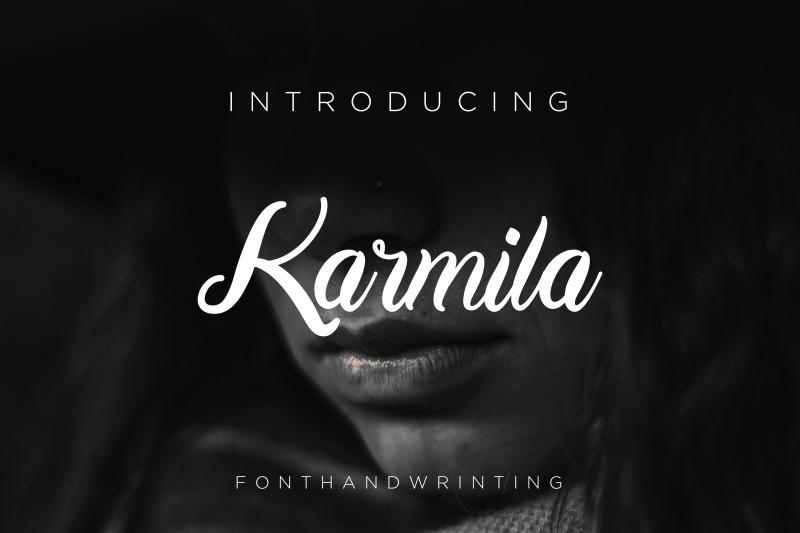 karmila-font-script