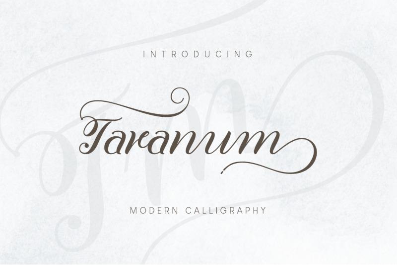 taranum-script-font