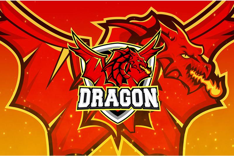 dragon-esport-logo-template