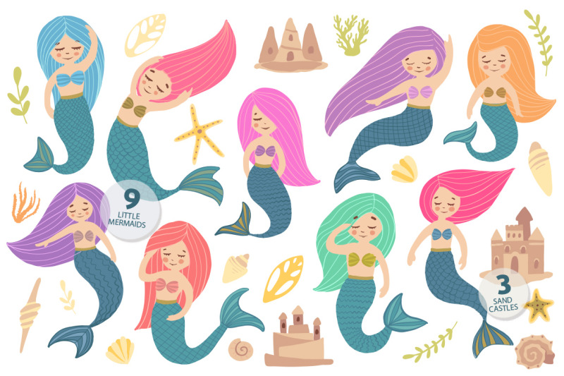 little-mermaid-and-her-friends