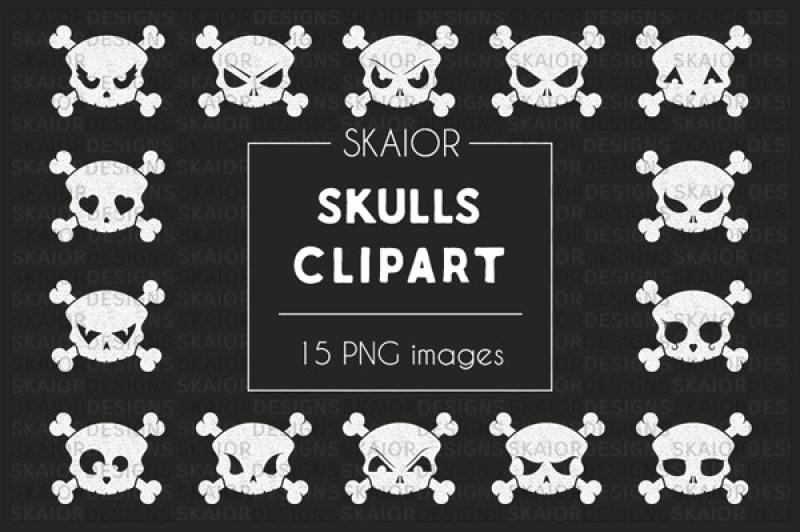 chalkboard-white-skulls-halloween-clipart
