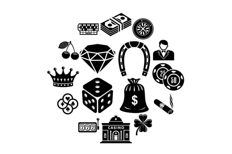 casino-icons-set-simple-style