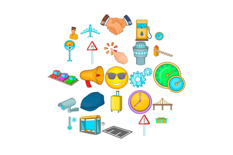 order-transport-icons-set-cartoon-style