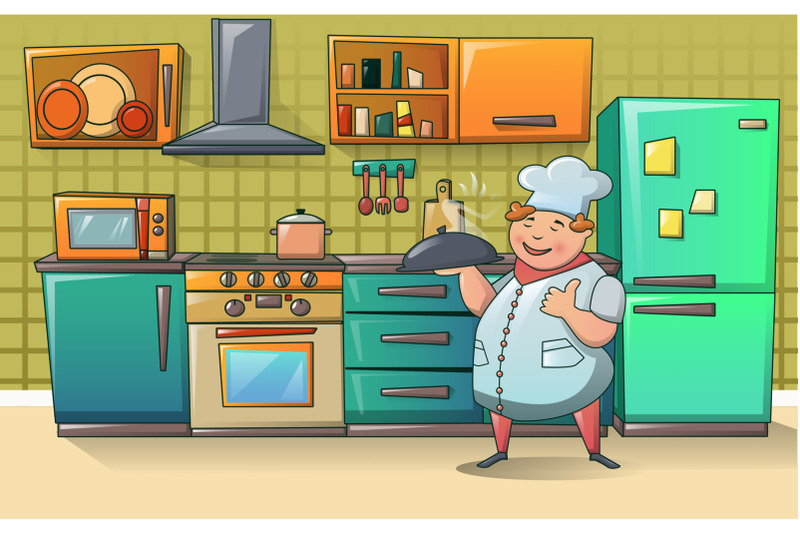 cooker-chef-character-banner-cartoon-style