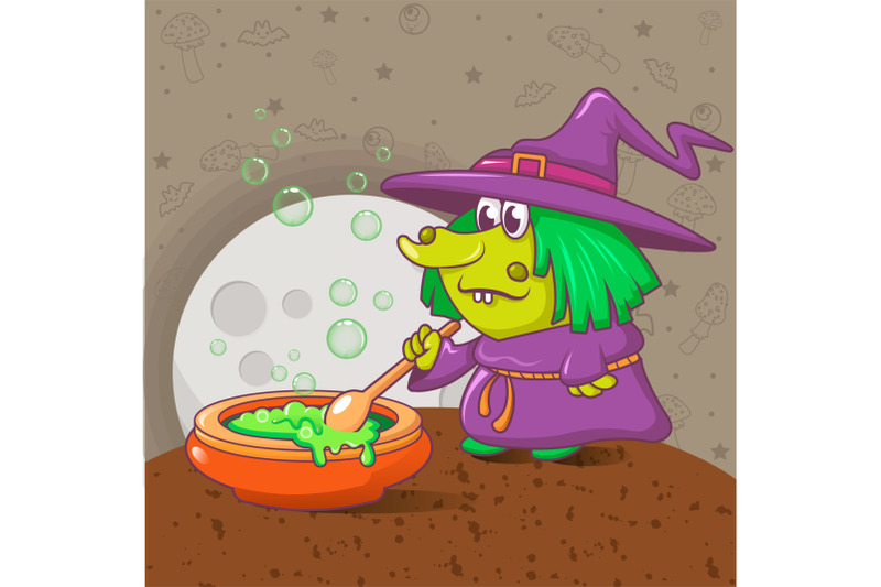 halloween-witch-concept-background-cartoon-style