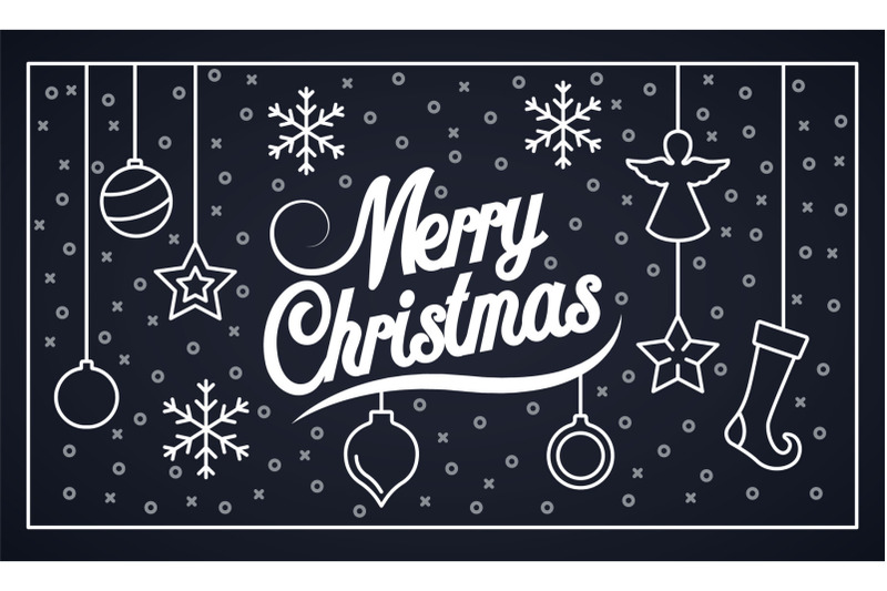 merry-christmas-banner-outline-style
