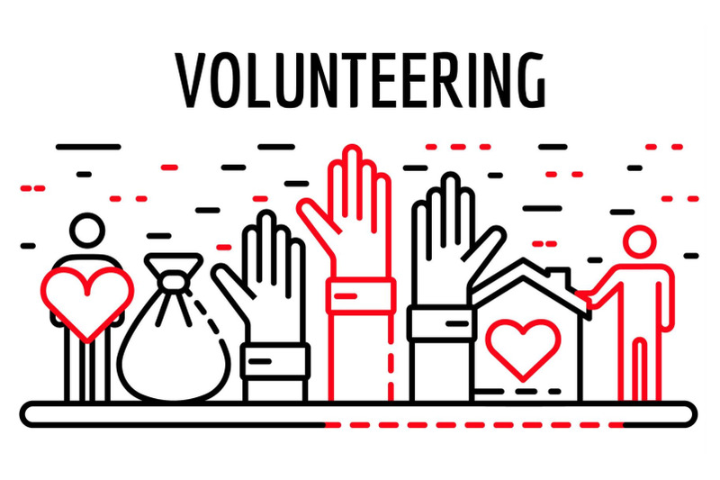 volunteering-banner-outline-style