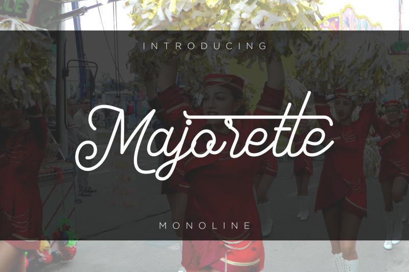 majorette-font-monoline