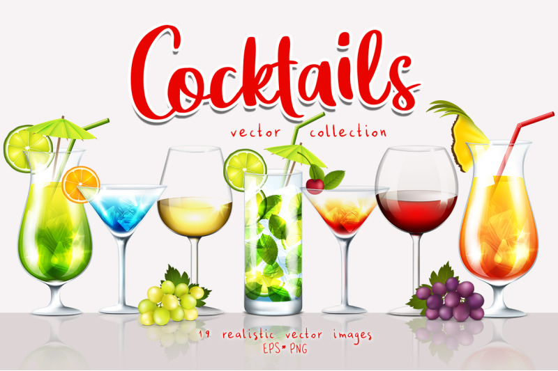 cocktails-vector-collection