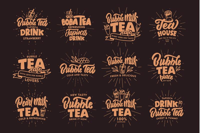 set-of-logos-hot-amp-amp-amp-cold-tea