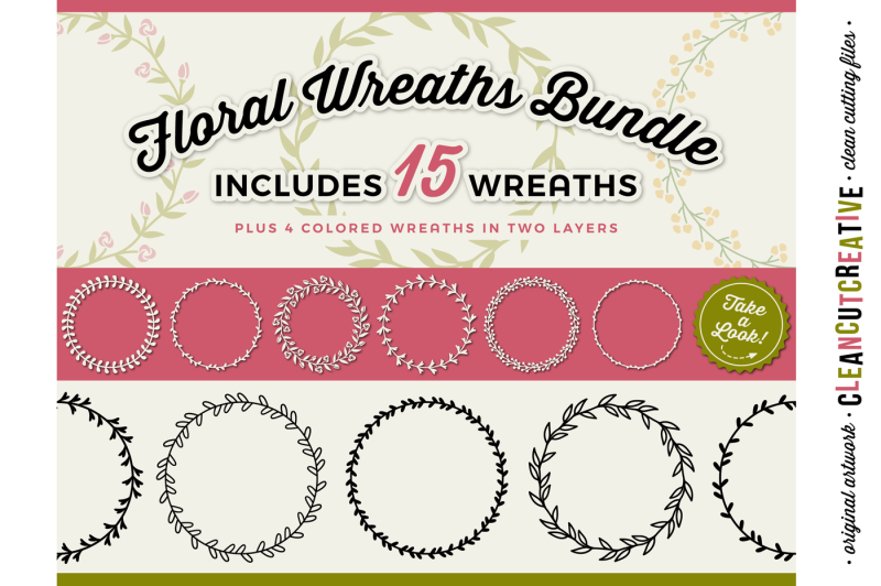 15-svg-floral-wreaths-floral-leaf-circle-frames-svg-dxf-eps-png-cricut-and-silhouette-clean-cutting-files