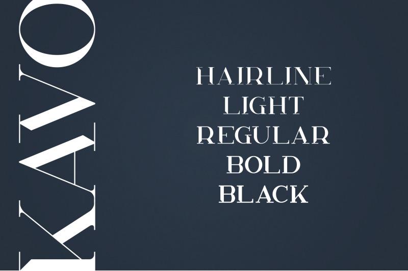 kavo-styled-serif-typeface-5-fonts