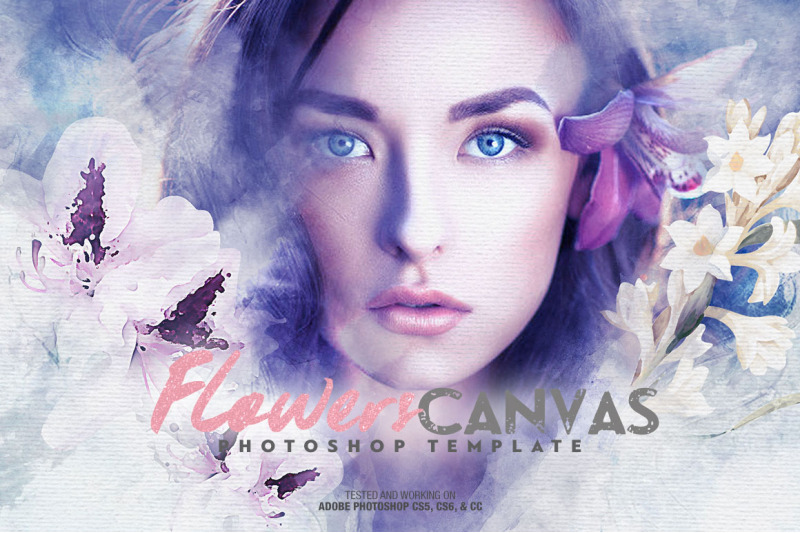 flowers-canvas-photo-template