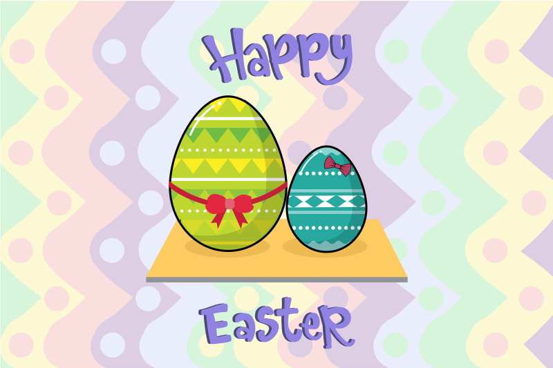 easter-egg-art-with-ribbon