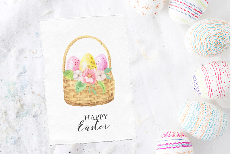 watercolor-easter-spring-bunny-set