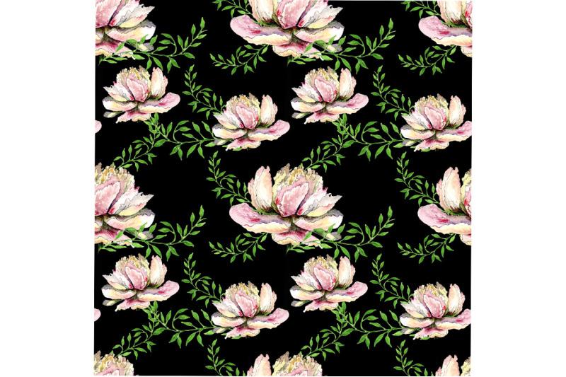 seamless-peonies-pattern-on-black-background