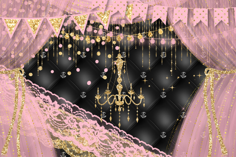 pink-and-gold-party-decoration-clipart