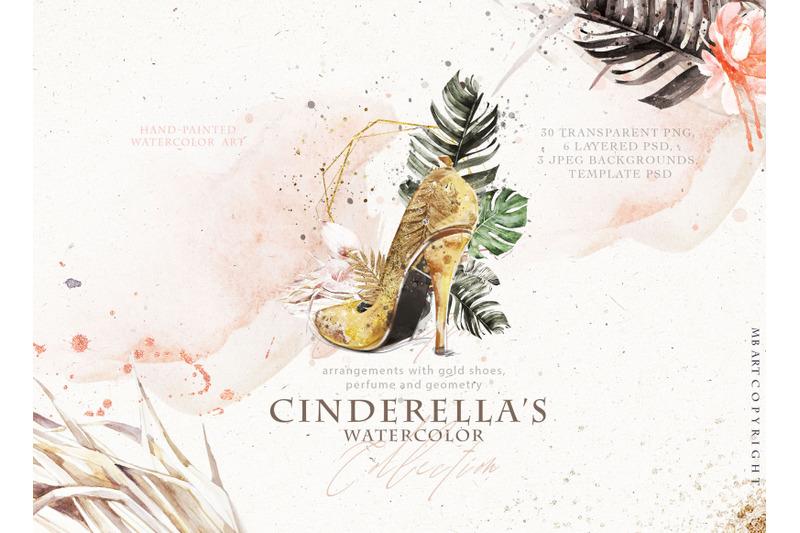 cinderella-039-s-shoe-watercolor