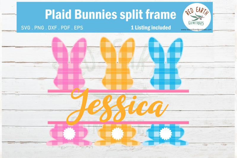 easter-plaid-bunny-split-monogram-frame-gingham-rabbit-svg