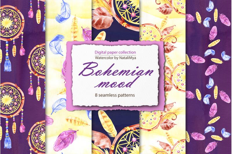 bohemian-mood-digital-paper-pack