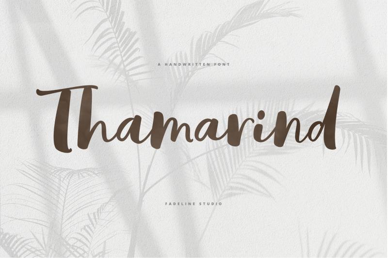 thamarind-handwritten-font