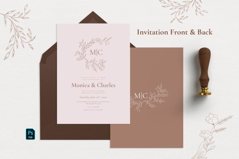 minimal-sketch-floral-invitation-suite