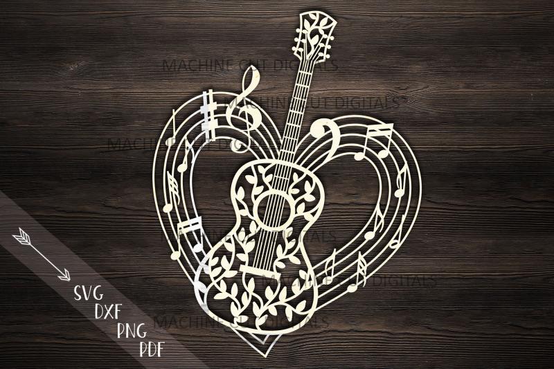 guitar-musical-heart-shape-svg-dxf-laser-cut-out-template
