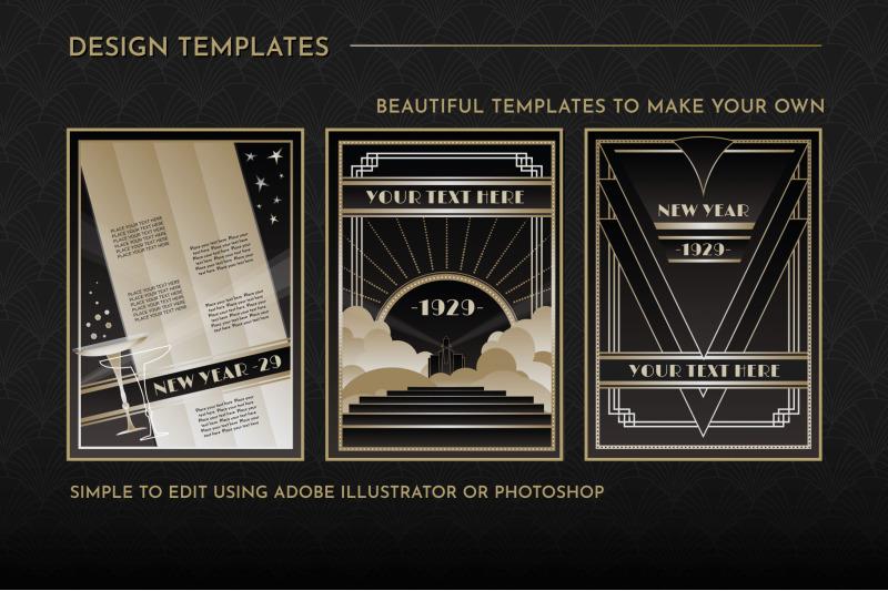 art-deco-menu-templates-vol-1