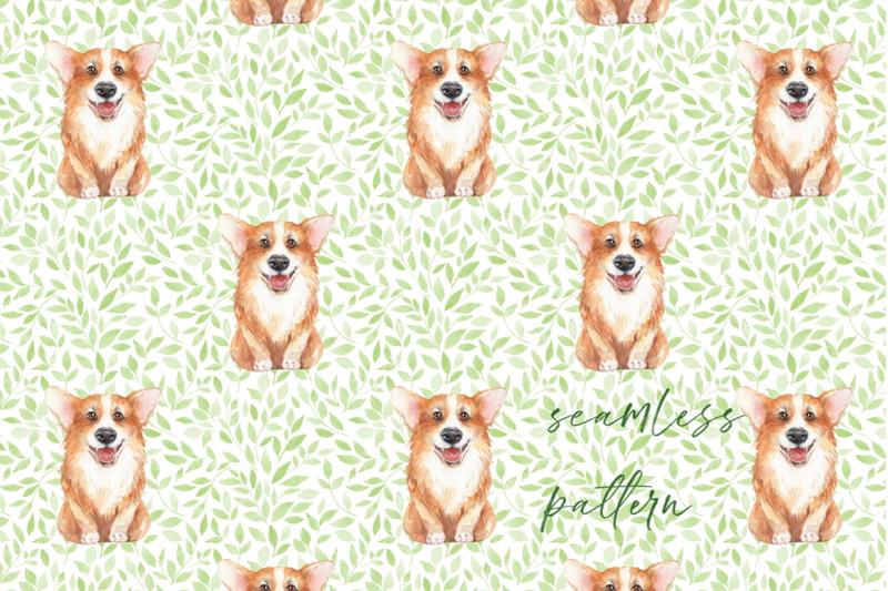 corgi-dog-and-pattern