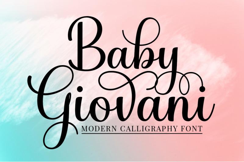 baby-giovani-calligraphy-font