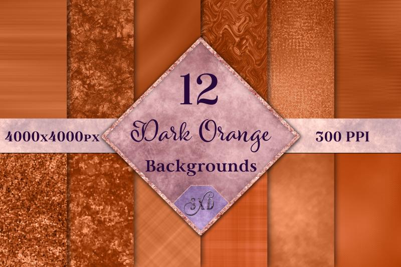 dark-orange-backgrounds-12-image-textures-set