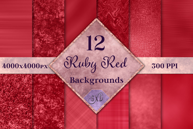 ruby-red-backgrounds-12-image-textures-set