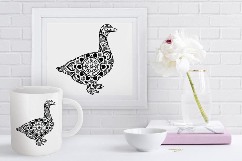 goose-mandala-svg-cut-files-goose-mandala-clipart