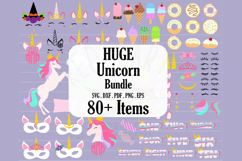 huge-unicorn-theme-bundle-donuts-ice-cream-svg-png-dxf-eps
