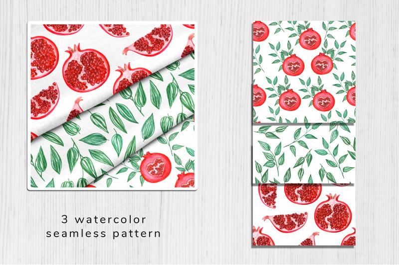 watercolor-pomegranate-pattern-1