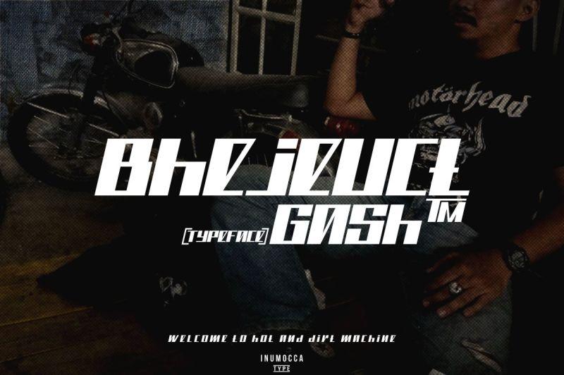 bhejeuct-gash-typeface