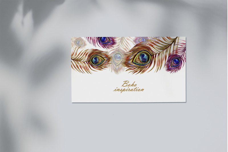 watercolor-peacock-feather-frame
