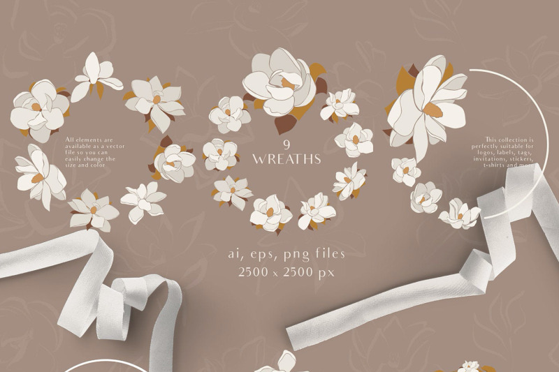 magnolia-flowers-clipart-abstract-art