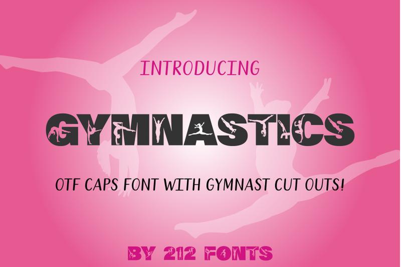 212-gymnastics-caps-display-font-gymnast-alphabet-otf