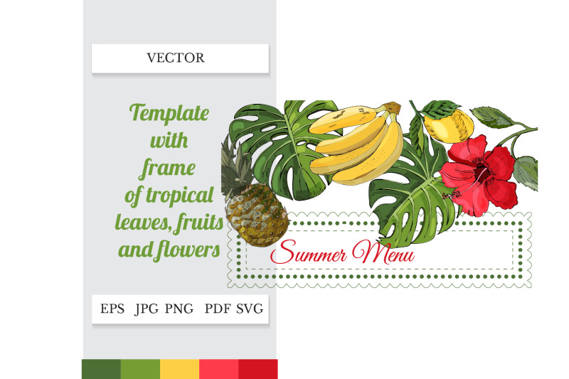 menu-template-summer-svg-tropical-party-decor