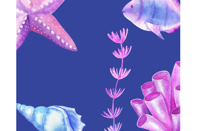 watercolor-underwater-world-clipart-sea-ocean