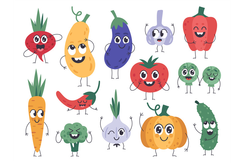 vegetable-mascots-happy-carrot-cute-cucumber-and-pumpkin-characters