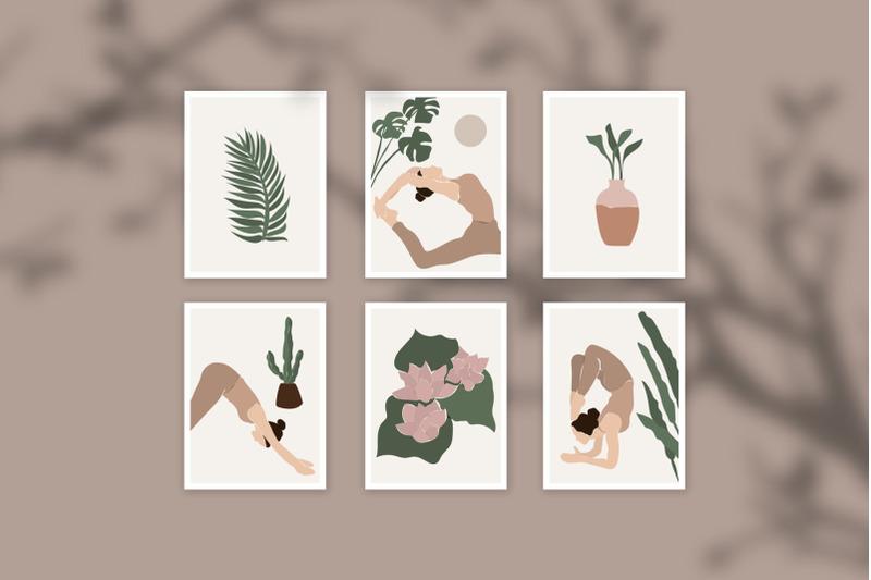 abstract-yoga-design-set