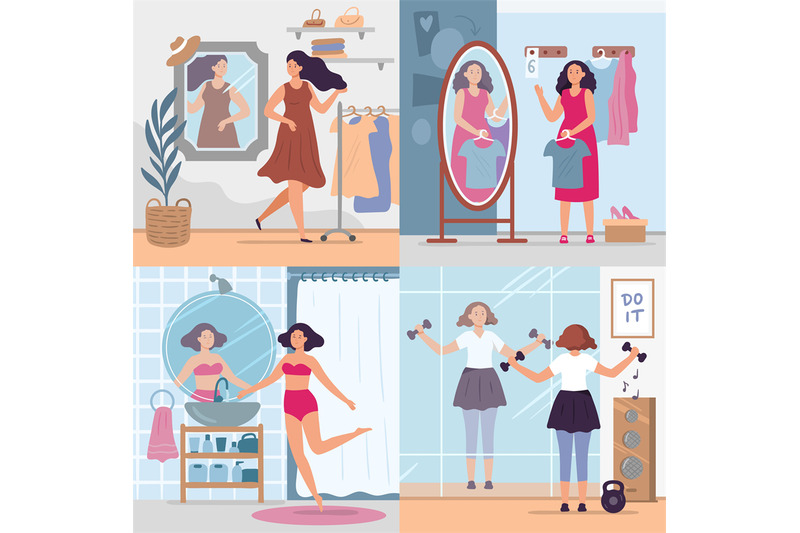 girl-looking-in-mirror-women-in-stylish-dressing-room-bathroom-and-g