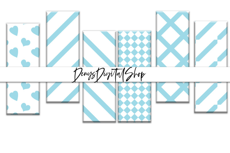 digital-blue-stripes-printable-stripes-bookmarks