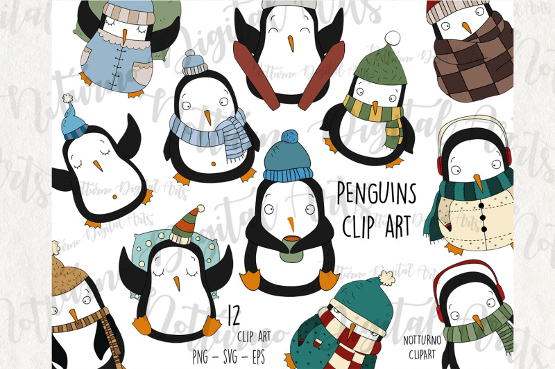 svg-penguins-clipart-for-scrapbooking-and-card-making-christmas-embe