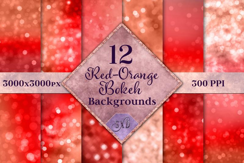 red-orange-bokeh-backgrounds-12-image-textures-set