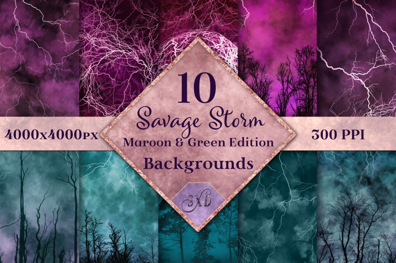 savage-storm-maroon-and-green-edition-backgrounds