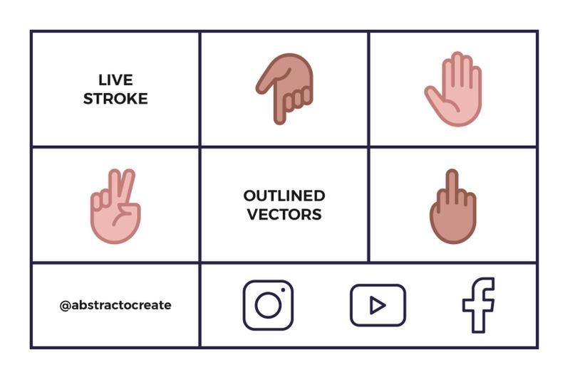 hand-emoji-icon-set