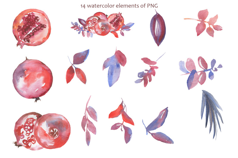watercolor-pomegranate